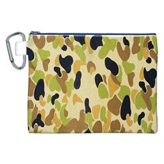 Army Camouflage Pattern Canvas Cosmetic Bag (XXL)