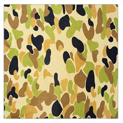 Army Camouflage Pattern Large Satin Scarf (square)