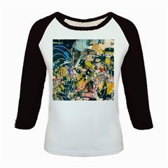 Art Graffiti Abstract Vintage Kids Baseball Jerseys