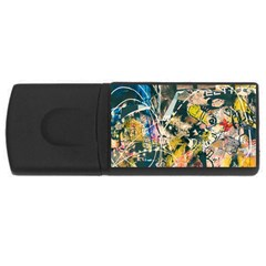 Art Graffiti Abstract Vintage Usb Flash Drive Rectangular (4 Gb)