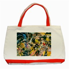 Art Graffiti Abstract Vintage Classic Tote Bag (red)