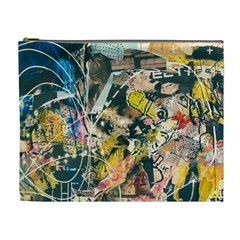 Art Graffiti Abstract Vintage Cosmetic Bag (XL)