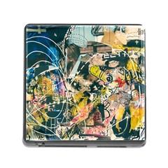 Art Graffiti Abstract Vintage Memory Card Reader (square)