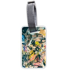 Art Graffiti Abstract Vintage Luggage Tags (one Side)
