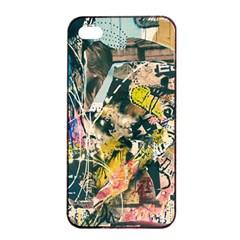 Art Graffiti Abstract Vintage Apple iPhone 4/4s Seamless Case (Black)