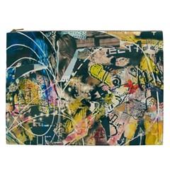 Art Graffiti Abstract Vintage Cosmetic Bag (XXL)