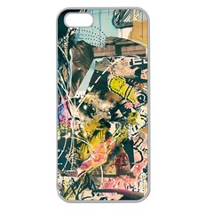 Art Graffiti Abstract Vintage Apple Seamless iPhone 5 Case (Clear)