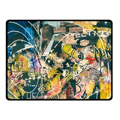 Art Graffiti Abstract Vintage Double Sided Fleece Blanket (small)