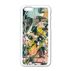 Art Graffiti Abstract Vintage Apple iPhone 6/6S White Enamel Case
