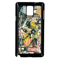 Art Graffiti Abstract Vintage Samsung Galaxy Note 4 Case (Black)