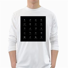 Art Desktop Icons Vector Clipart White Long Sleeve T-Shirts