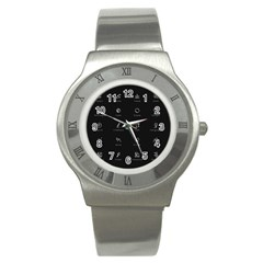 Art Desktop Icons Vector Clipart Stainless Steel Watch