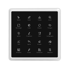 Art Desktop Icons Vector Clipart Memory Card Reader (Square)