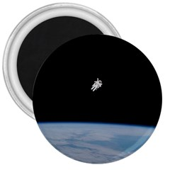 Astronaut Floating Above The Blue Planet 3  Magnets