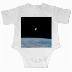 Astronaut Floating Above The Blue Planet Infant Creepers