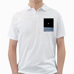 Astronaut Floating Above The Blue Planet Golf Shirts