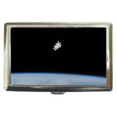 Astronaut Floating Above The Blue Planet Cigarette Money Cases