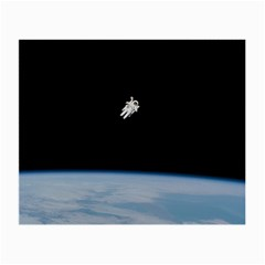 Astronaut Floating Above The Blue Planet Small Glasses Cloth