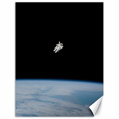 Astronaut Floating Above The Blue Planet Canvas 18  x 24