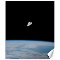 Astronaut Floating Above The Blue Planet Canvas 20  x 24