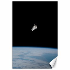 Astronaut Floating Above The Blue Planet Canvas 24  x 36
