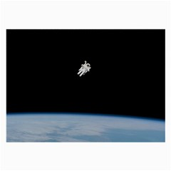 Astronaut Floating Above The Blue Planet Large Glasses Cloth (2-Side)