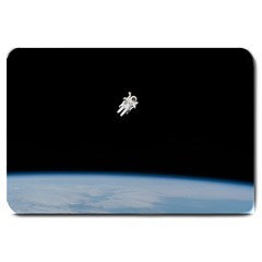 Astronaut Floating Above The Blue Planet Large Doormat
