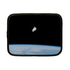 Astronaut Floating Above The Blue Planet Netbook Case (small)