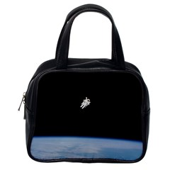 Astronaut Floating Above The Blue Planet Classic Handbags (One Side)