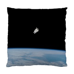 Astronaut Floating Above The Blue Planet Standard Cushion Case (One Side)
