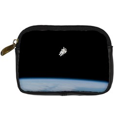Astronaut Floating Above The Blue Planet Digital Camera Cases