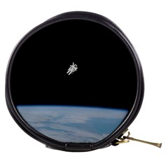 Astronaut Floating Above The Blue Planet Mini Makeup Bags