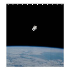 Astronaut Floating Above The Blue Planet Shower Curtain 66  x 72  (Large)