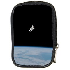 Astronaut Floating Above The Blue Planet Compact Camera Cases