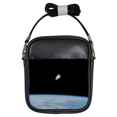 Astronaut Floating Above The Blue Planet Girls Sling Bags