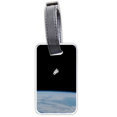 Astronaut Floating Above The Blue Planet Luggage Tags (One Side)