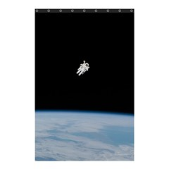 Astronaut Floating Above The Blue Planet Shower Curtain 48  x 72  (Small)