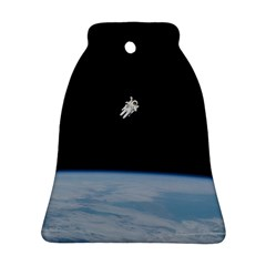 Astronaut Floating Above The Blue Planet Bell Ornament (Two Sides)