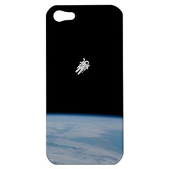 Astronaut Floating Above The Blue Planet Apple Iphone 5 Hardshell Case
