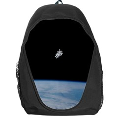 Astronaut Floating Above The Blue Planet Backpack Bag