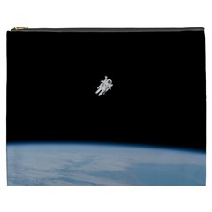 Astronaut Floating Above The Blue Planet Cosmetic Bag (XXXL)