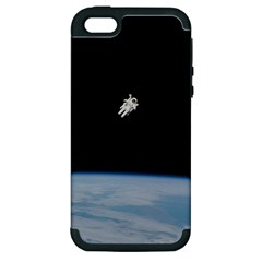 Astronaut Floating Above The Blue Planet Apple iPhone 5 Hardshell Case (PC+Silicone)