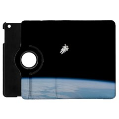 Astronaut Floating Above The Blue Planet Apple iPad Mini Flip 360 Case