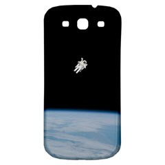 Astronaut Floating Above The Blue Planet Samsung Galaxy S3 S III Classic Hardshell Back Case