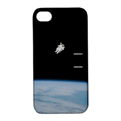 Astronaut Floating Above The Blue Planet Apple Iphone 4/4s Hardshell Case With Stand