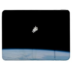 Astronaut Floating Above The Blue Planet Samsung Galaxy Tab 7  P1000 Flip Case
