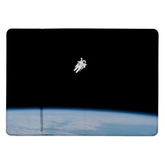 Astronaut Floating Above The Blue Planet Samsung Galaxy Tab 10.1  P7500 Flip Case