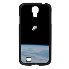Astronaut Floating Above The Blue Planet Samsung Galaxy S4 I9500/ I9505 Case (Black)