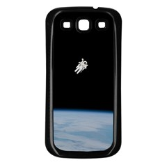 Astronaut Floating Above The Blue Planet Samsung Galaxy S3 Back Case (Black)