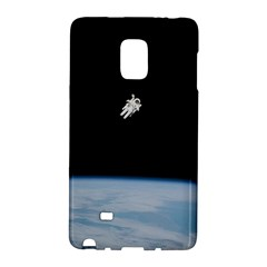 Astronaut Floating Above The Blue Planet Galaxy Note Edge
